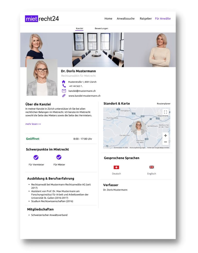 Profil Mietrecht24.ch Vorschau