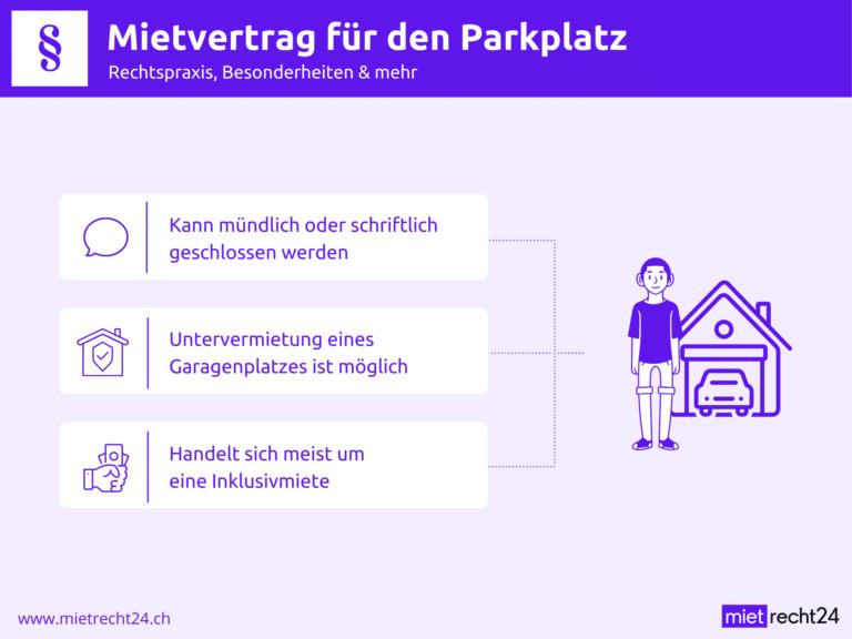 Infografik zu Rechtspraxis bei Mietvertrag Parkplatz